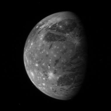 Ganimedes, la luna mas grande de Júpiter